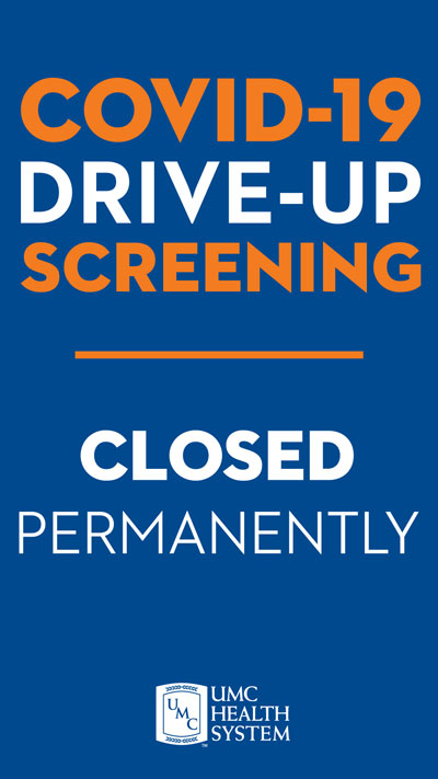 Covid-19 Drive-up screening is closed permanently